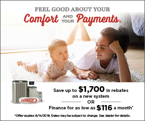 Save up to 1700 in rebates on a new system OR Finance for as low as 116 a month