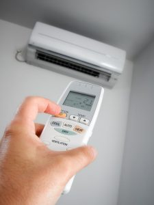 ductless-air-conditioner-air-handler-remote-controlled