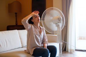 woman-using-fan